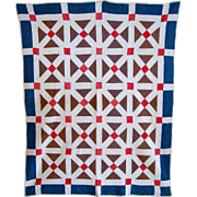 Crossroads quilt- late 19th c.