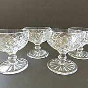 4 Hocking Glass Company  Waterford Sherbets