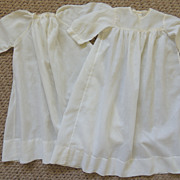 2 Baby Gowns With Tatted Lace Trim