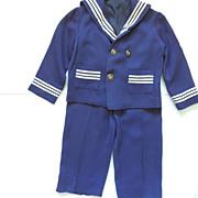 Vintage Boy's Sailor Outfit 2 Piece Suit