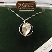 Krementz 14K Gold Overlay Cultured Pearl Necklace