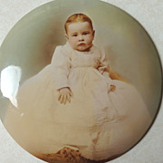 Celluloid On Tin Photo of Baby