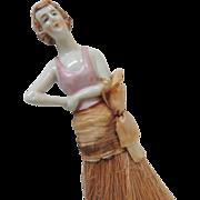 Porcelain Half Doll Brush Germany
