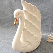 Vintage Swan TV Lamp