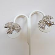 Sterling Silver and Rhinestone Earrings