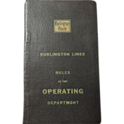 1951 Burlington Northern Operating Rules Book