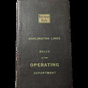 1951 Burlington Northern Operating Rules Book