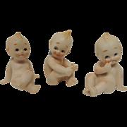 3 Bisque Kewpie Figurine Dolls