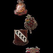 4 WW2 Military Pins