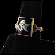 SOLD Vintage Ladies Eastern Star Ring