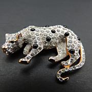 Leopard Pin With Rhinestones