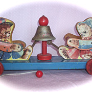 1950's Pull Toy made by The Gong Bell MFG Co. USA