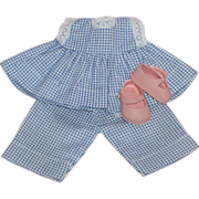 SOLD Precious Original Ginny Tagged Outfit w/Pink Ginny Shoes