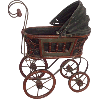 "Wonderful - Antique Doll Stroller for 8"" - 10"" Baby Doll"