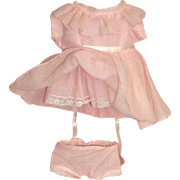 Lovely Light Pink Dress w/ Attached Slip and Matching Undies