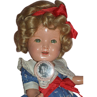 SALE HTF - 11'' Ideal Composition Shirley Temple in Original Outfit c1930's