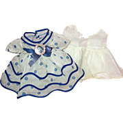 """SOLD 1930's Shirley Temple Original """"Stand Up & Cheer Dress"""" w/Onsie for 17-18"""""""