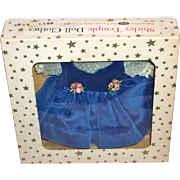 SOLD 1950's Shirley Temple Dress - Blue Velvet Jumper Dress Mint in Box