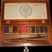 Antique James Newman water colour paint box 1840