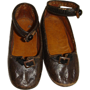 Early pair for wax of large doll shoes