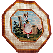 Very fine early needlepoint rug for the dolls house