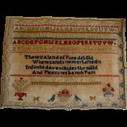 Sampler dated 1863 by Dorothy Pye wonderful wording