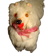 Paper mache fur covered Pomeranium dog for FF doll