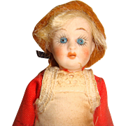 Charming all bisque miniature German doll