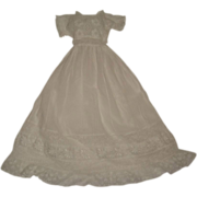 Pretty white lace trimmed dress suitable FF doll