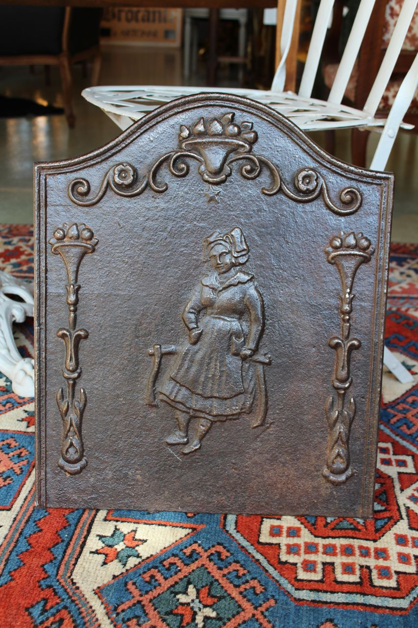 Early 20th Century French Cast Iron Fireback