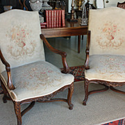 SOLD Pair of French Louis XV Style Fauteuils