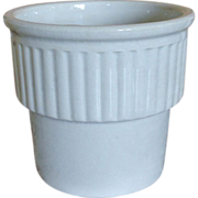 French Faience Ivory Pottery Pot