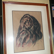 Francis de Erdely Charcoal Drawing - Untitled - ca. 1940's-50's