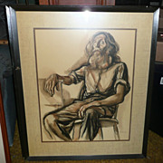 Francis de Erdely Ink & Watercolor Drawing - Untitled - ca. 1940's-50's