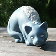 Curio Cabinet Cat - Parian Style - Franklin Mint - ca. 1986-88