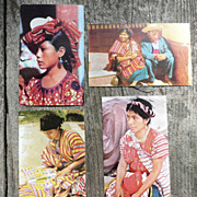 Set of 4 Zadik Postcards - Litho. - People/Guatemala - ca. mid-late 1950's