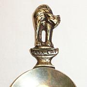 Peerage Brass Manx Cat Tea Caddy Spoon - ca. 1940's-50's