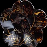 Chinese Tea Dust Glazed Porcelain Bottle Vase. Qing Dynasty.