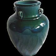 Chinese Qing Dynasty Green & Blue Glazed Stoneware Vessel / Urn.