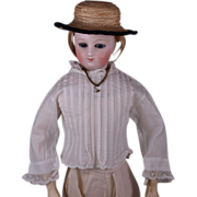 SOLD Beautiful Antique Original Muslin Blouse for French Fashion Doll circa 1880s