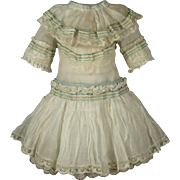 Wonderful Antique Thin Muslin French Bebe Dress for JUMEAU, BRU other French Doll