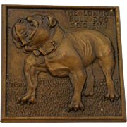 SOLD Vintage Bronze London Bulldog Society Medal c. 1929 - 1936
