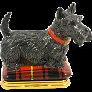 SOLD Halcyon Days Scottish Terrier Bonbonniere Box