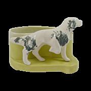 Vintage Ceramic Drip-Glaze Spaniel Dog Planter