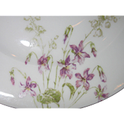 SALE Limoges, France, Theo Haviland Hand-Painted Porcelain Luncheon Plates, Violets, Sold as .