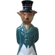 SOLD Vintage GREEN Foxy Gent JIM BEAM Bourbon Decanter, circa 1965
