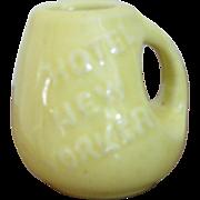 SALE Hall Pottery, Vintage 1930's HOTEL NEW YORKER Pottery Creamer, Hotel Ware, Restaurant War