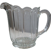 SALE Early Heisey, Imperial Colonial Panel Depression Pressed Glass Pitcher, Clear