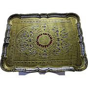 REDUCED HUGE, Vintage Florentine Tray, Rectangle, Italy, Circa 1940-1960