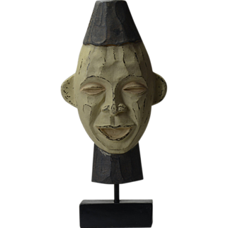 Vintage Chinese Sculpture Mask Head - FREE ship!